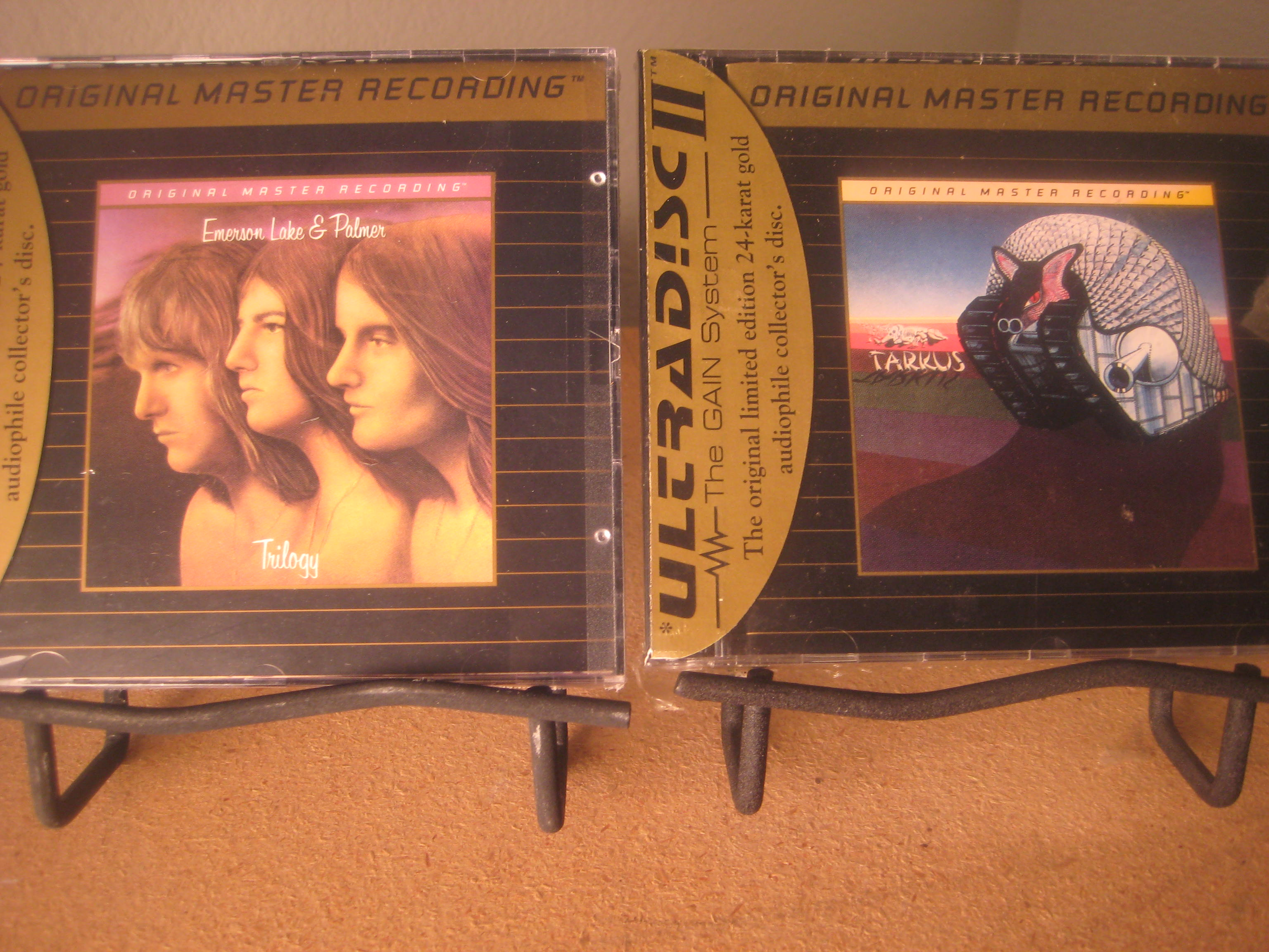 """Emerson Lake & Palmer, Trilogy & Tarkus - 2 Factory Sealed MFSL Gold CD"" - Product Image"