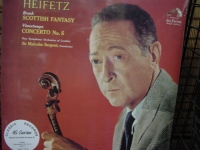 """Heifetz - Bruch, Scottish Fantasy, Viextemps Concerto No.5 - Four 45sp 180 Gram Vinyl' - Product Image"