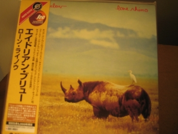 """Adrian Belew, Lone Rhino - OBI Mini Replica LP In A CD - Japanese"" - Product Image"