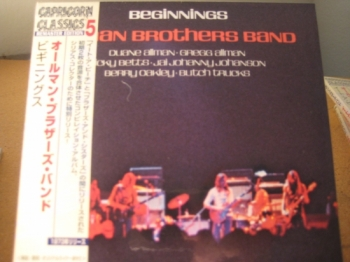 """Allman Brothers, Beginnings - Mini LP Replica In A CD - Japanese"" - Product Image"