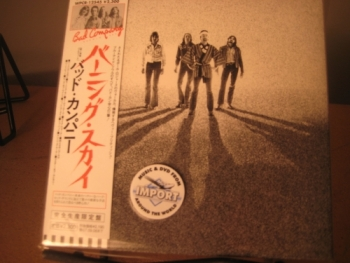 """Bad Company, Burnin' Sky - OBI Mini Replica LP In A CD - Japanese"" - Product Image"