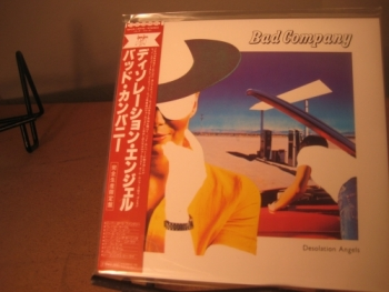 """Bad Company, Desolation Angels - OBI Mini LP Replica In A CD - Japanese"" - Product Image"