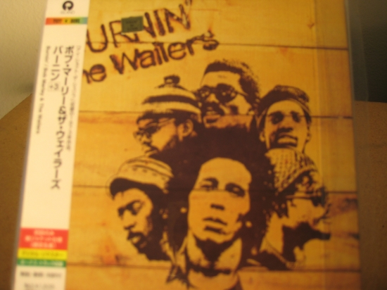 """Bob Marley & The Wailers, Burnin' - OBi Mini Replica LP In A CD - Japanese - Product Image"