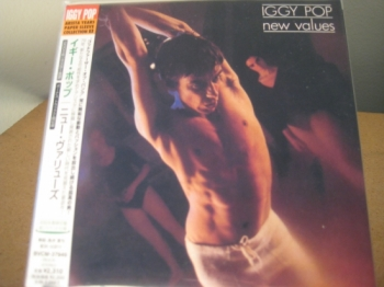 """Iggy Pop, New Values - OBI Mini Replica LP In A CD - Japanese"" - Product Image"