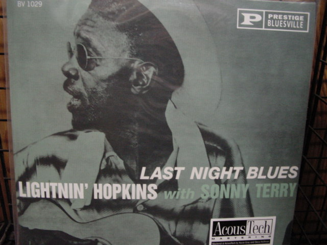 """Lightnin' Hopkins with Sonny Terry - Last Night Blues - 45 Speed 2 LP Set"" - Product Image"