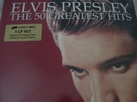 """""""Elvis Presley, The 50 Greatest Hits - Gold Sticker - 180 Gram (3 LPs, limited stock)"""" - Product Image"""