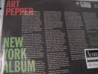 """Art Pepper, New York Album - 2 LPs - Numbered - 180 Gram - 45 Speed"" - Product Image"