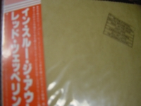 """Led Zeppelin, In Through The Out Door - Japanese First Edition Release with Brown Bag Slipcase of LP Replica in a CD (with OBI Sash"" - Product Image"