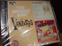 """The Ventures, 10th Anniversary Album & Only Hits - 2 CD Set - CURRENTLY OUT OF STOCK"" - Product Image"