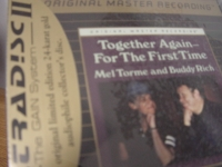 """""""Mel Torme & Buddy Rich, Together Again For The First Time - Sealed MFSL Gold CD"""" - Product Image"""
