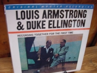 """""""Louis Armstrong and Duke Ellington Together - MFSL MINT MINUS Condition"""" - Product Image"""