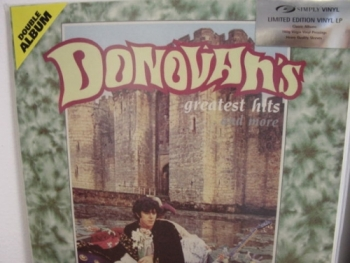 """""""Donovan, Greatest Hits - SVLP Silver Edition Sticker -  180 Gram"""" - Product Image"""