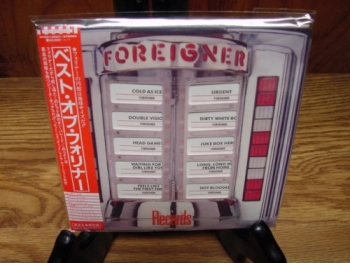 """Foreigner, Records Their Hits - OBI Mini LP Replica In A CD - Japanese"" - Product Image"