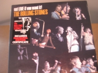 """The ROLLING STONES, GOT LIVE - INAUGURAL CERTIFICATE SEALED CD - Product Image"